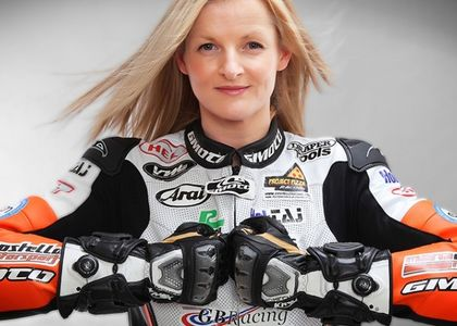 British Bike Racer, Maria Costello, chats with Motortourer founder, Ben.